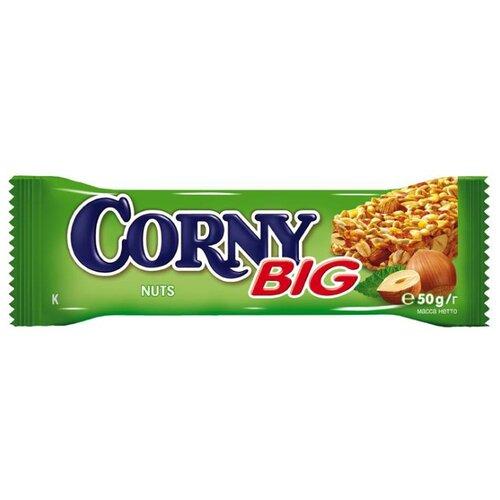 Злаковый батончик Corny Big Nuts с лесными орехами, 50 г батончик злаковый fortuche яблоко с корицей 30 шт по 25 г