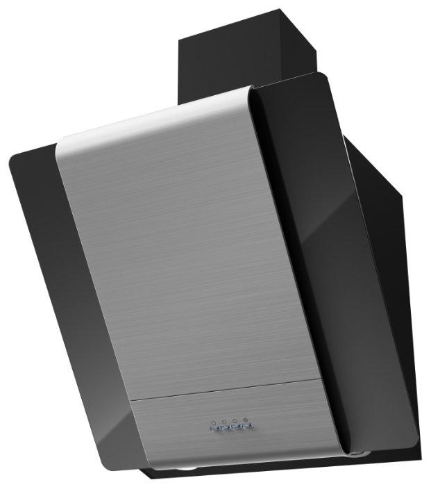 Каминная вытяжка Krona TALLI 600 inox/black glass