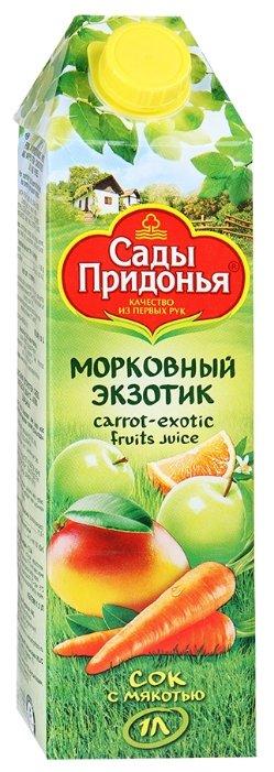Сок Сады Придонья Морковный Экзотик, без сахара, 1 л
