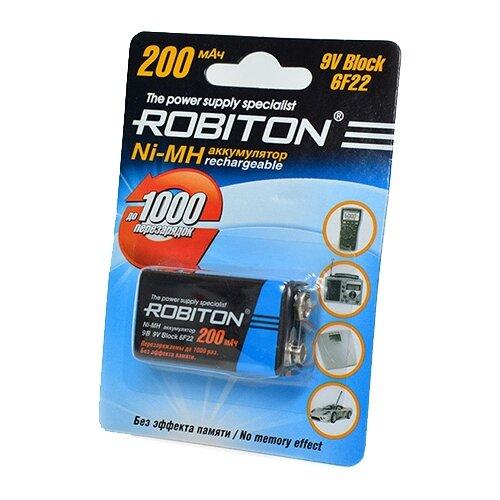 Фото - Аккумулятор Ni-Mh 200 мА·ч ROBITON 9V Крона 6F22 200, 1 шт. аккумулятор ni mh 200 ма·ч robiton 9v крона 6f22 200 1 шт