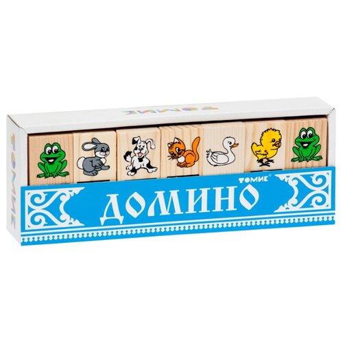 Купить Настольная игра Томик Домино Животные, Настольные игры