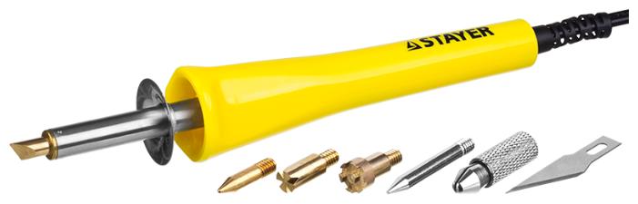 Прибор для выжигания пайки резки STAYER MASTER с набором насадок 6шт 45221