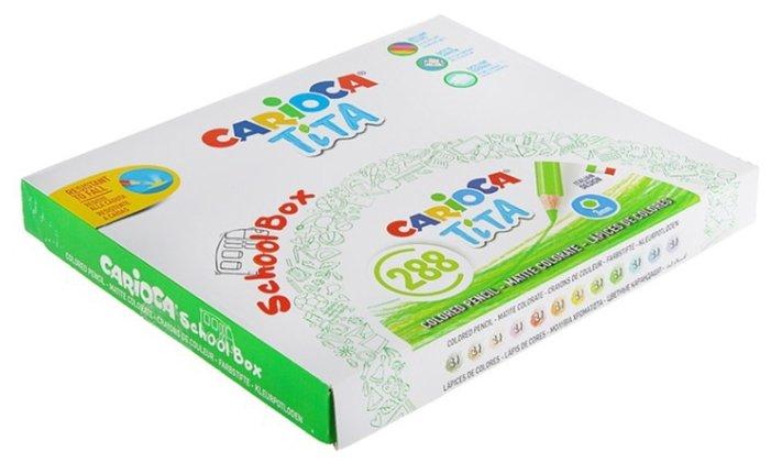 Carioca набор цветных карандашей Tita 12 цветов 288 шт (42833)
