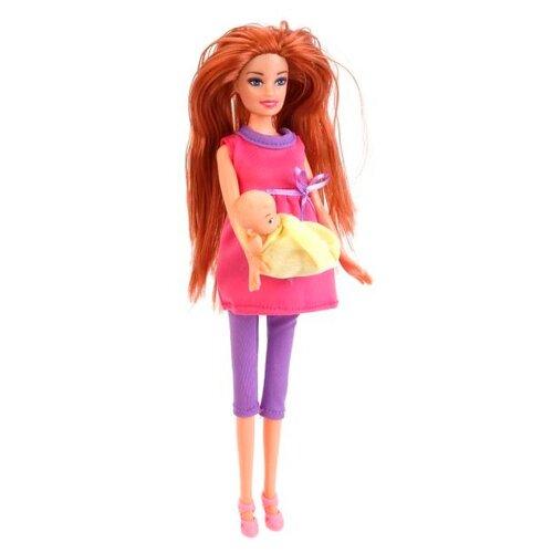 Кукла Карапуз Беременная София в розовом платье с ребенком, 29 см, 66308-1-S-BB кукла карапуз герда 29 см снежная королева в голубом платье карапуз