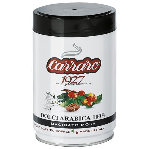 Кофе молотый Carraro Dolci Arabica 250 гМолотый кофе<br>
