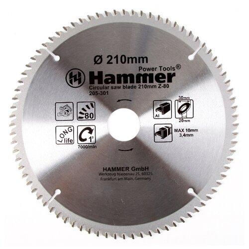 Пильный диск Hammer Flex 205-301 CSB AL 210х30 мм диск пильный твердосплавный hammer ф160х30мм 36зуб