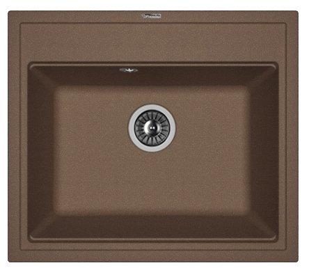Врезная кухонная мойка FLORENTINA Липси-600 FS 60х51см искусственный гранит