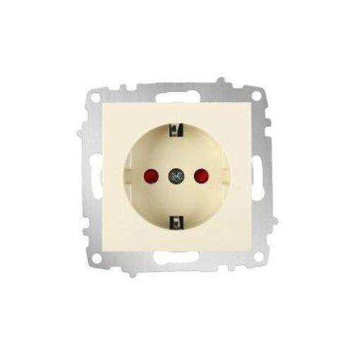 Розетка ABB Cosmo 619-010300-243 10А, с защитной шторкой, с заземлением, слоновая костьРозетки, выключатели и рамки<br>