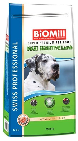 Корм для собак Biomill Swiss Professional Maxi Sensitive Lamb (12 кг)