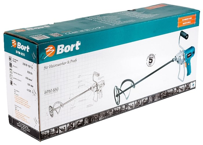Строительный миксер Bort BPM-850 820 Вт