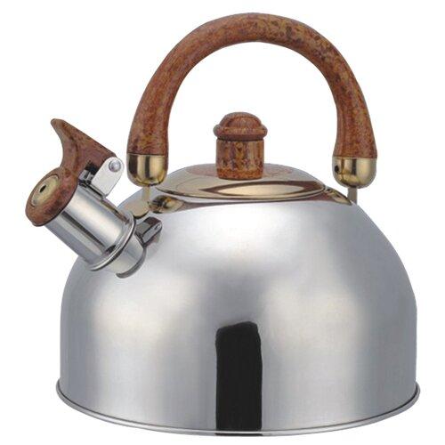 Bohmann Чайник со свистком 4,5 л серебристый/коричневый чайник со свистком bohmann bhl 6