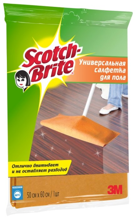 Салфетка универсальная для пола Scotch-Brite FC-SUP оранжевая