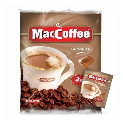 Растворимый кофе MacCoffee Карамель 3 в 1, в пакетиках