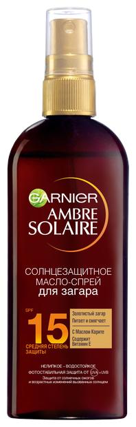 GARNIER Ambre Solaire масло-спрей для загара с маслом Карите SPF 15