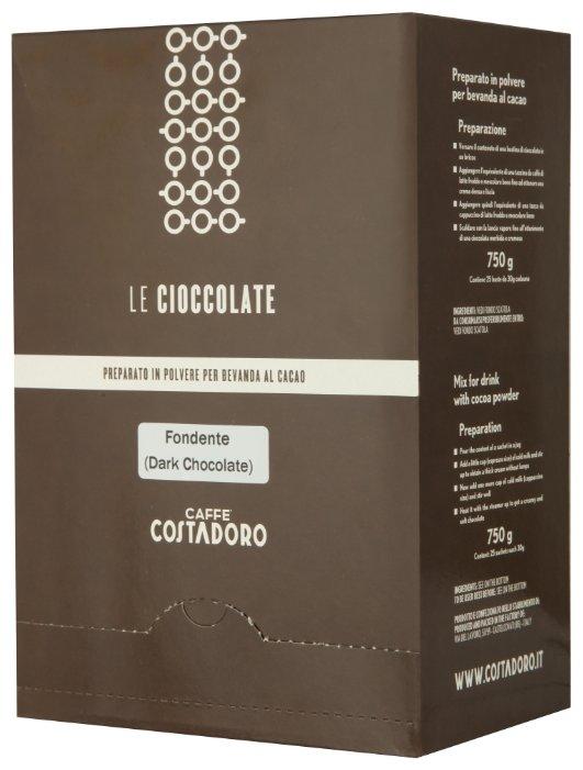 Costadoro Le Cioccolate Dark Chocolate Горячий шоколад растворимый Темный в пакетиках, 25 шт.