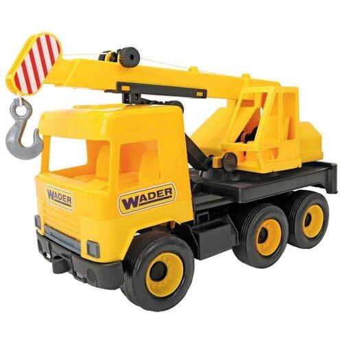 Автокран Wader Middle Truck (39491) 43 см желтыйМашинки и техника<br>