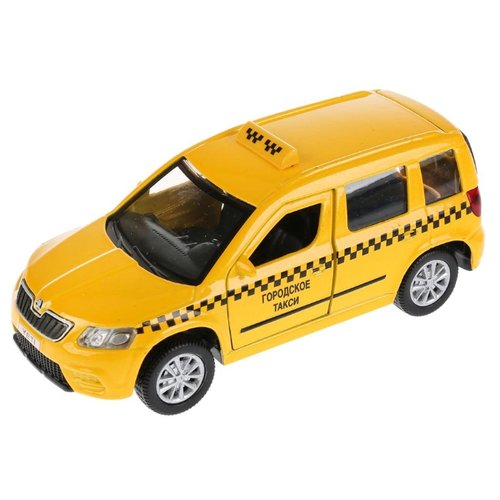 Купить Легковой автомобиль ТЕХНОПАРК Skoda Yeti Такси (YETI-T) 12 см желтый, Машинки и техника