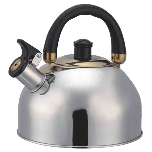 Bohmann Чайник со свистком 4,5 л серебристый/черный чайник со свистком bohmann bhl 6