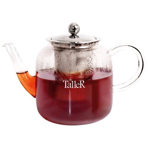 Фото - Taller Заварочный чайник Тайрон TR-1371 800 мл, прозрачный чайник зав taller тайрон 800мл термостекло нерж сталь