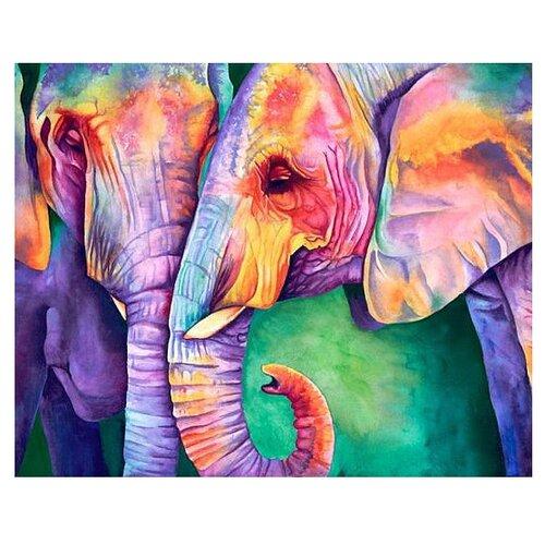 Алмазная живопись Набор алмазной вышивки Мудрость слонов (АЖ-1385) 50х40 смАлмазная вышивка<br>