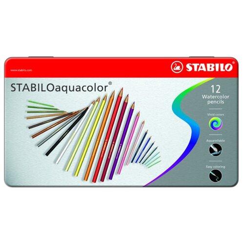 Купить STABILO Акварельные карандаши Aquacolor 12 цветов (1612-5), Цветные карандаши