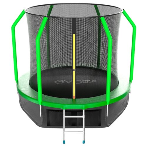 Каркасный батут EVO Jump 6FT Cosmo с нижней сетью 183х183х210 см green каркасный батут evo jump 6ft cosmo с нижней сетью 183х183х210 см green