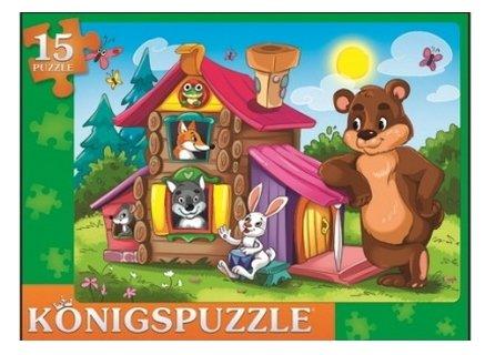Рамка-вкладыш Рыжий кот Konigspuzzle Теремок (ПК15-9978), 15 дет.