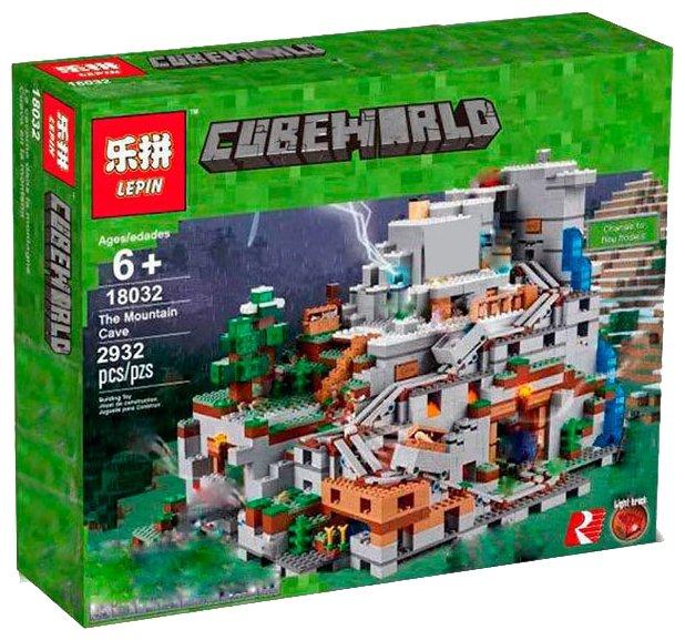 Конструктор Lepin Cubeworld 18032 Горная пещера