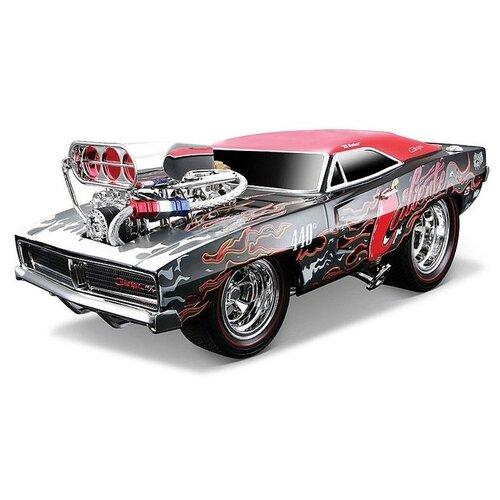 Купить Легковой автомобиль Maisto Muscle Machines - Dodge Charger R/T 1969 (32209) 1:18 черный/красный, Машинки и техника