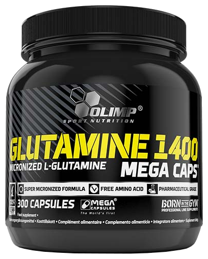 Аминокислота Olimp L-Glutamine Mega Caps (300 капсул)