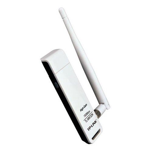 Wi-Fi адаптер TP-LINK TL-WN722N, белый