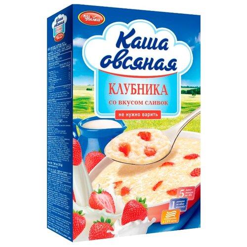 Увелка Каша овсяная быстрого приготовления с клубникой со вкусом сливок, порционная (5 шт.) каша безмолочная bebi premium овсяная с 5 мес 200 гр 18 шт