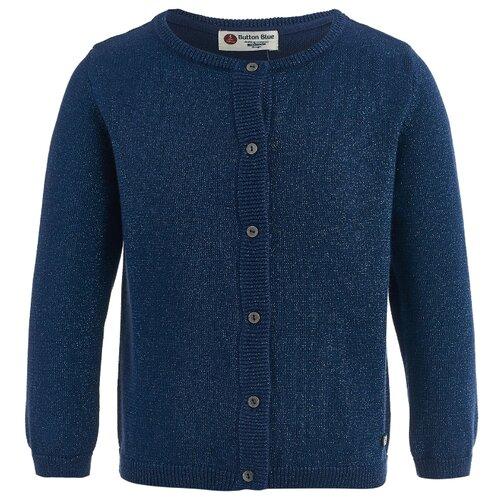 Купить Кардиган Button Blue размер 122, синий, Свитеры и кардиганы