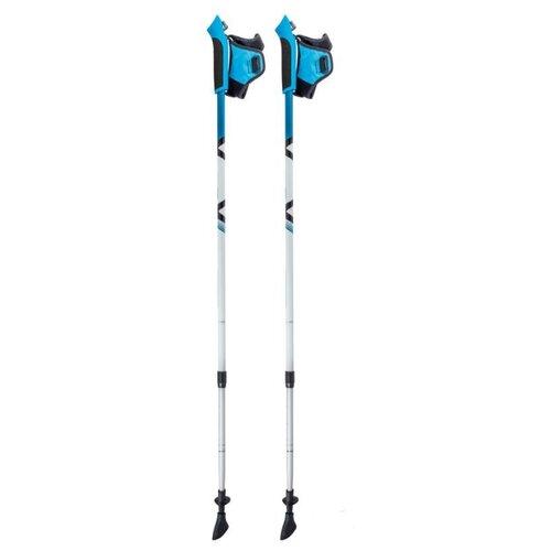 Палки для скандинавской ходьбы со сменными комплектующими ECOS Телескопические Алюминиевые AQD-B020 azure фото
