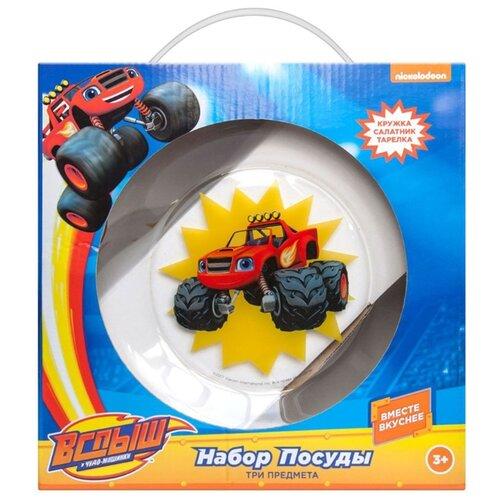 Столовый сервиз ND Play Вспыш и чудо-машинки Вспыш Скорость mattel mattel детский автотрек вспыш и чудо машинки прыжок через пылающий вулкан