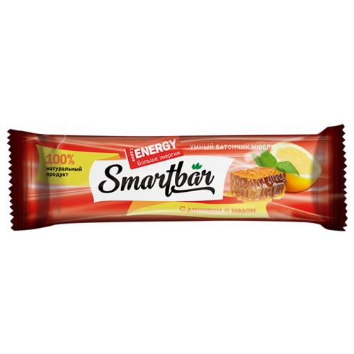 Злаковый батончик Smartbar Energy с лимоном и медом, 25 г батончик злаковый poppins honey flakes bar со вкусом меда с белым шоколадом 25 г