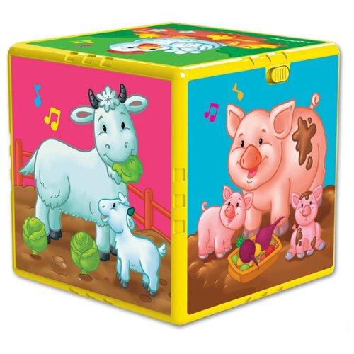 Купить Интерактивная развивающая игрушка Азбукварик Говорящий кубик. В гостях на ферме разноцветный, Развивающие игрушки