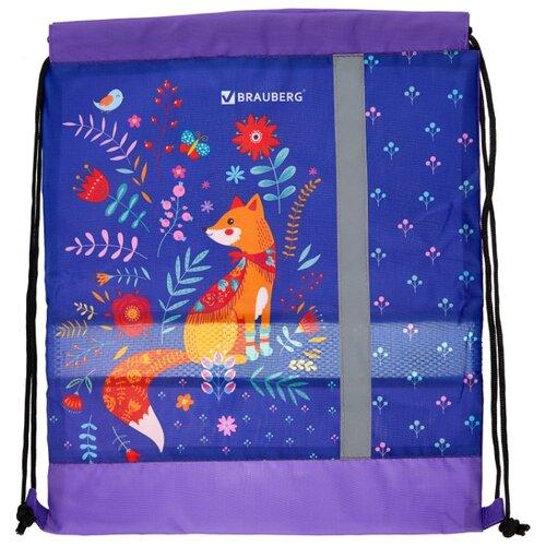 Купить BRAUBERG Сумка для обуви Рыжая лиса (228123) фиолетовый/оранжевый, Мешки для обуви и формы