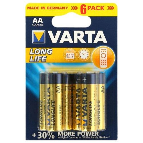 Батарейка VARTA LONGLIFE AA 6 шт блистер