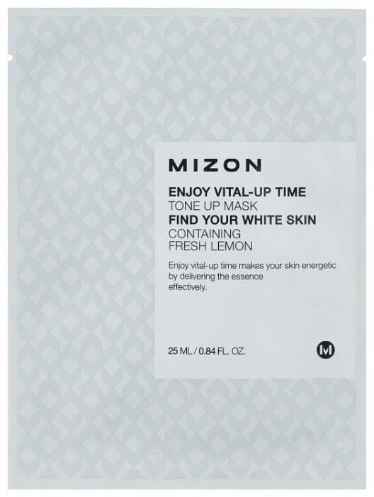 Mizon Enjoy Vital-Up Time Tone Up Mask осветляющая тканевая маска
