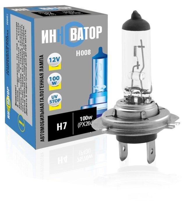 Лампа автомобильная галогенная ИННОВАТОР H7 12v 100w (PX26d) H008 1 шт.