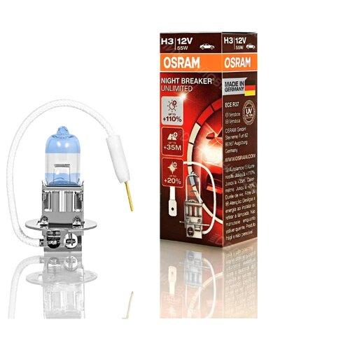 Лампа автомобильная галогенная Osram NIGHT BREAKER UNLIMITED H3 64151NBU 12V 55W 1 шт. лампа галогенная osram h11 original 12v 55w 1 шт