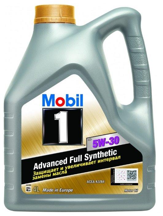 Моторное масло Mobil 1 FS 5W-30, 4 л, синтетическое, 153750