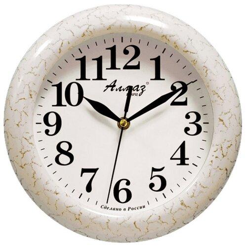 Часы настенные кварцевые Алмаз P14-P25 бежевый/белый часы настенные кварцевые алмаз m52 бежевый белый