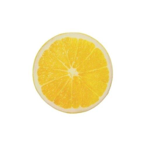 Подушка декоративная Aerodivan Лимон, 38 см желтый/белый