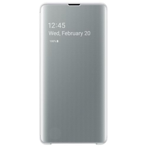 Чехол Samsung EF-ZG975 для Samsung Galaxy S10+ белый чехол samsung ef qg975 для samsung galaxy s10 бесцветный