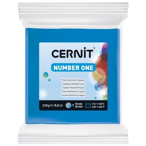 Купить Полимерная глина Cernit Number one синяя (200), 250 г, Глина