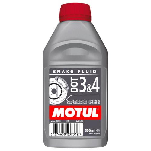 цена на Тормозная жидкость Motul DOT-3/4 0.5 л