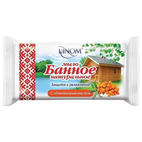 Мыло кусковое Linom банное с облепиховым маслом 140 гМыло<br>