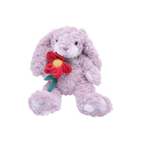 Купить Мягкая игрушка Magic Bear Toys Заяц Барни c цветком 26 см, Мягкие игрушки